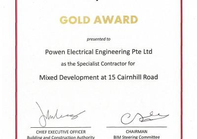 BIM GOLD Award (Cairnhill)