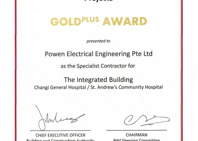 BIM GOLD PLUS Award (CGH)