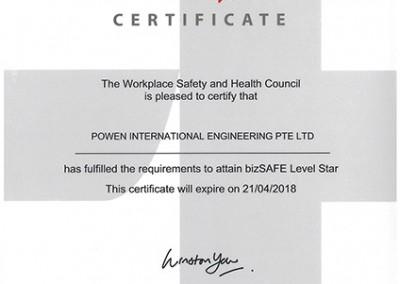 bizSafe Star Certificate