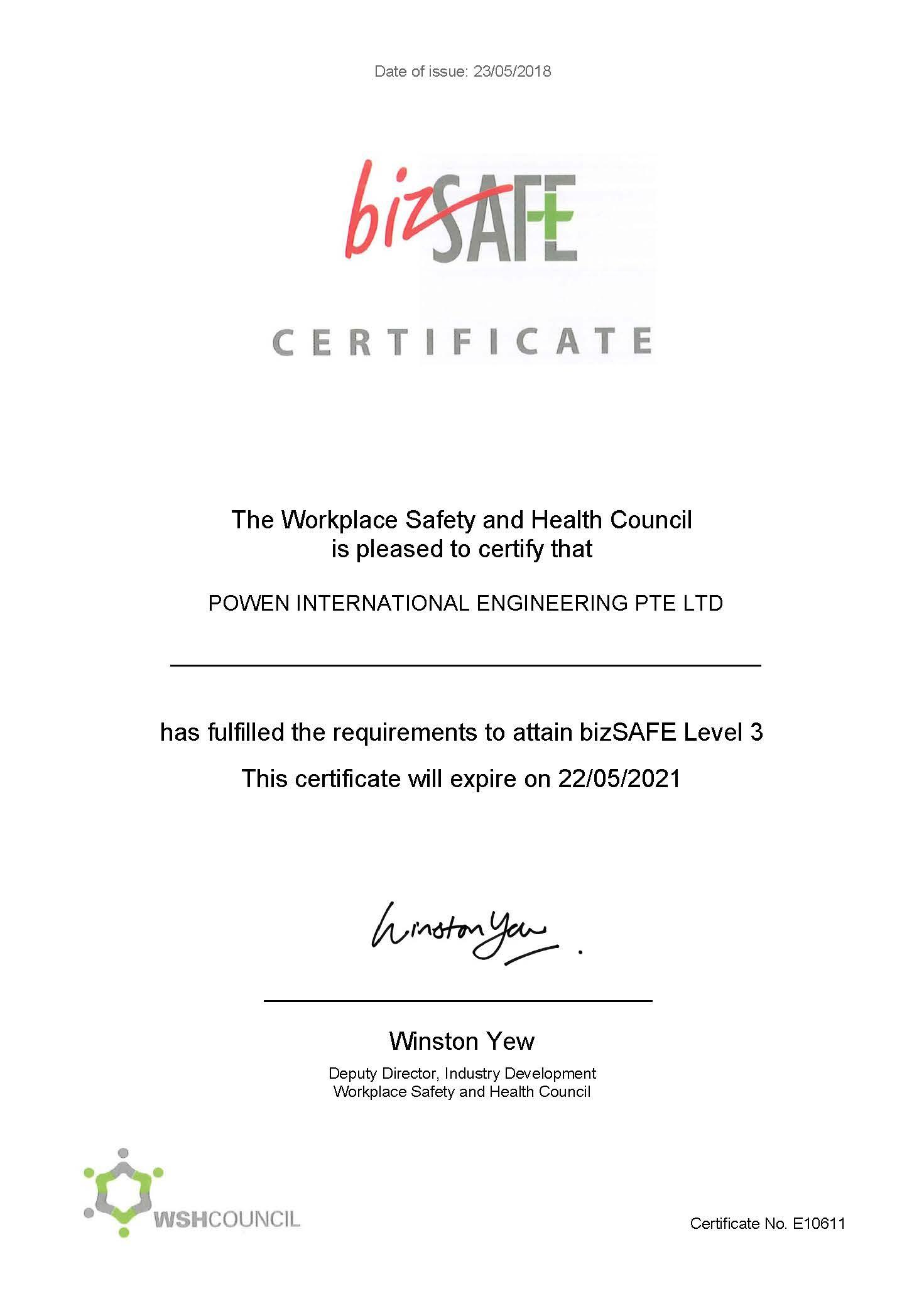 Certifications Powen Group
