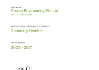 SGBC Founding Member Certificate
